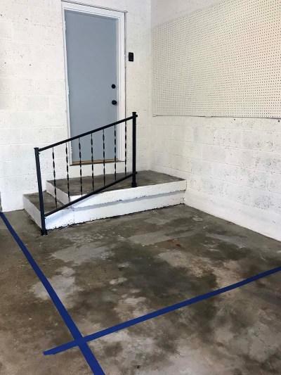 Taped Off Floor