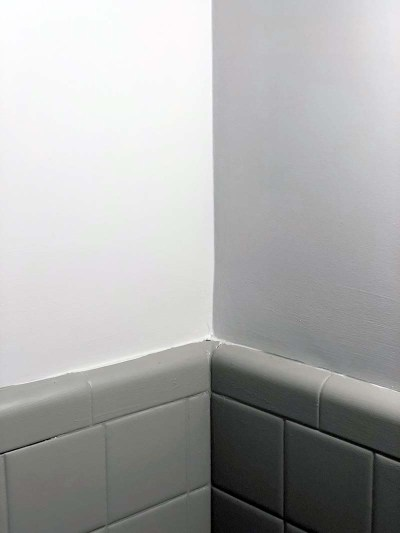Half Bath Corner Tile