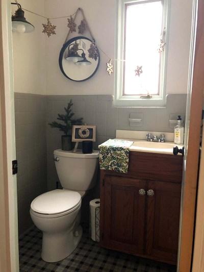 Christmas Half Bath