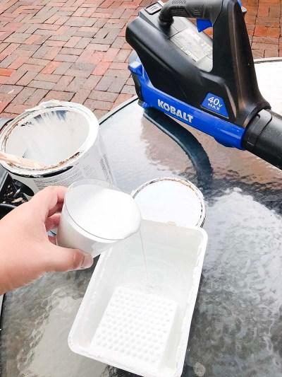 Combining Paint & Water Whitewashing
