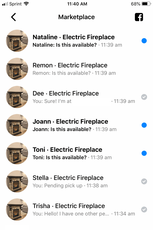 Fireplace FB Offers