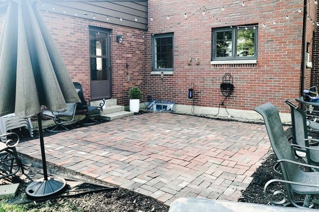 Patio Cleaned Off