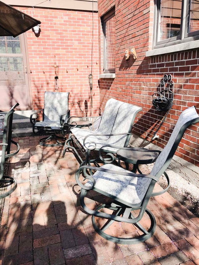 Patio Set Love Seat Before
