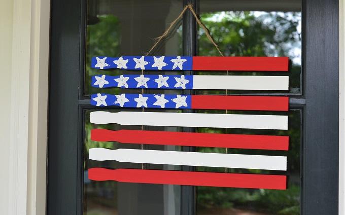 Diy American Flag Door Hanger