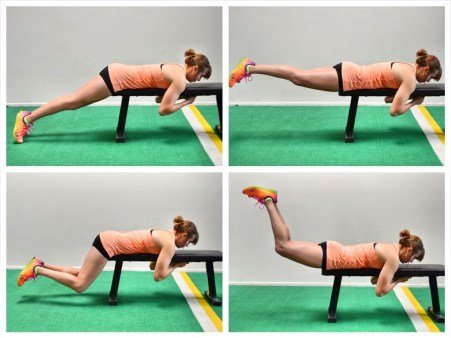 Image result for Bent-Knee Reverse Hip Raise: