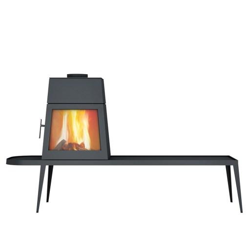skantherm shaker long left wood stove