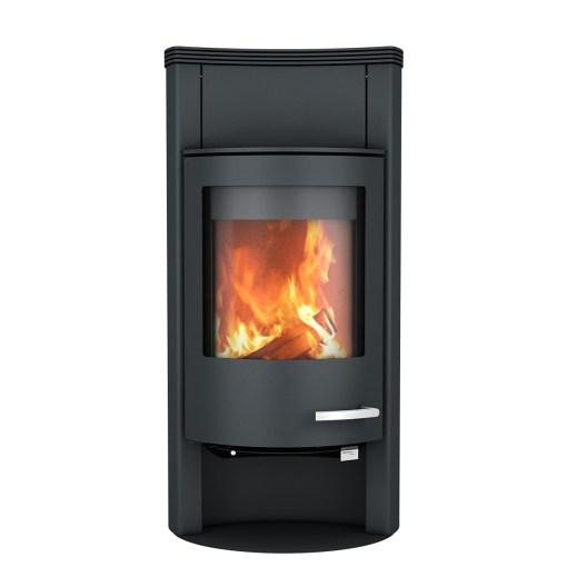 skantherm beo wood stove concave black steel