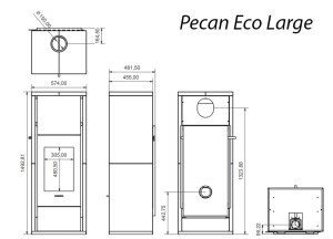 Pecan Large Technical Drawing