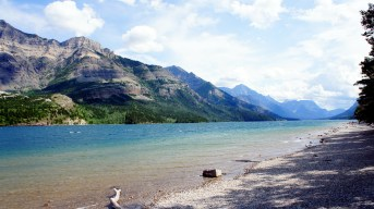 This is actually in Waterton National Park, Canada. The park abuts Glacier. And a must see day trip! So close, more amazing views.
