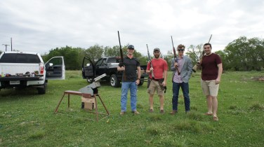 Well sometimes you just want to shoot clay things with cray friends.
