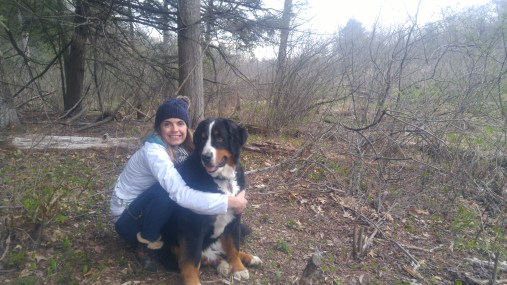 Hiking with the pup on our visit to Massachusetts!