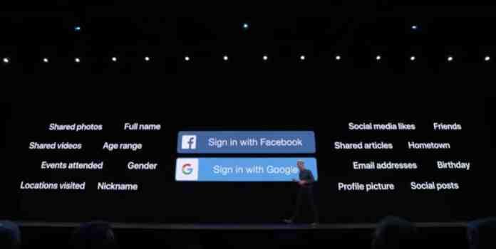Registro en aplicaciones con credenciales de Apple obteniendo una mayor privacidad para el usuario.