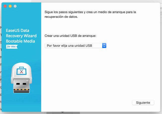 Creación de medio de arranque de emergencia que crea EaseUS Data Recovery Wizard.