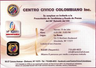 19 de Julio ~ Centro Civico Colombiano 24 Reinado de Belleza del CCC