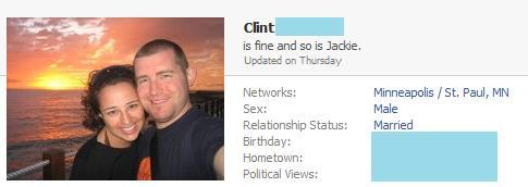 Clint's Facebook status