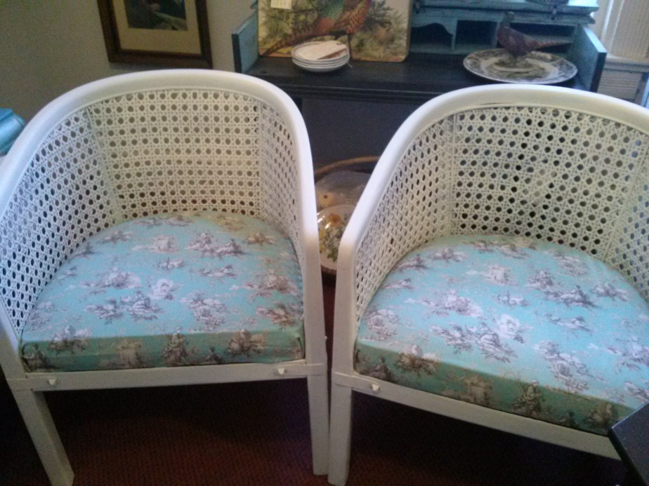 Classic/Fresh Vintage Cane Barrel Chairs (SOLD)
