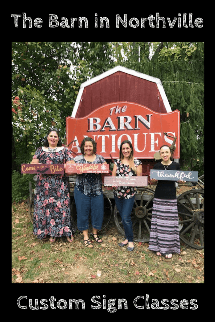 The Barn in Northville Custom Sign Classes
