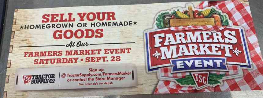 Tractor Supply Hosts FREE Farmers Market