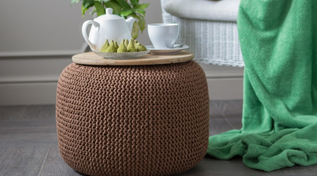 decorate with a pouf