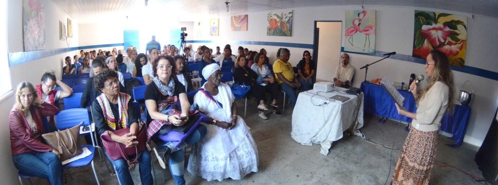 FAEG Itinerante em São José da Vitória - Eva Lima, atriz e proponente do projeto - Foto Alex Santos