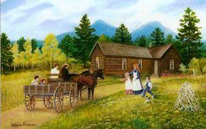 Painting by Winona Hanson