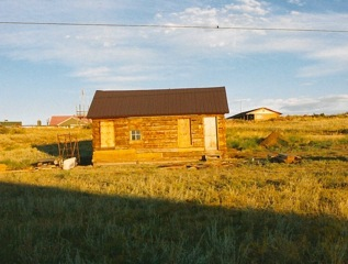 Robinson Cabin with new metal roof