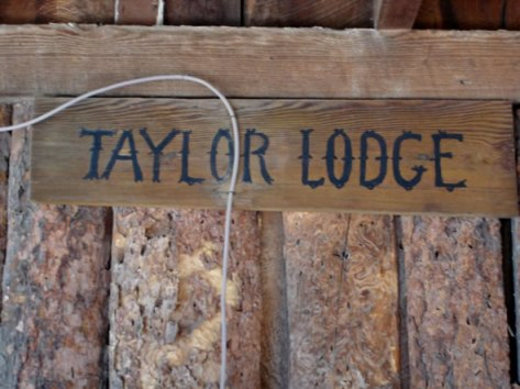 "Original ""Taylor Lodge"" sign"