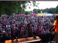 View of the crowd from the main stage between performances