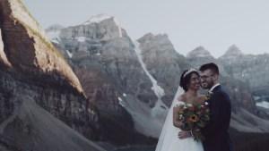 Banff couple wedding video moraine lake