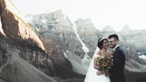 Karen Leroy Banff Moraine Lake wedding