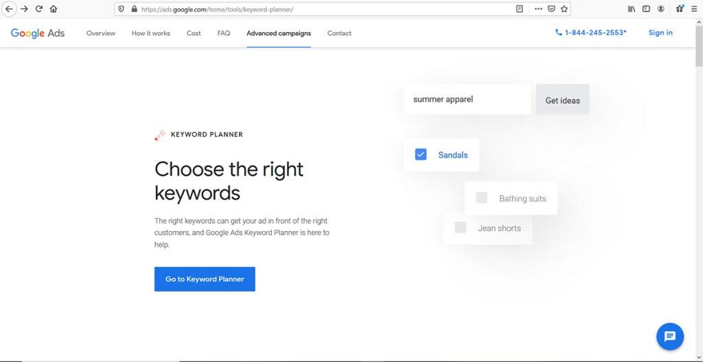 Google Keyword Planner Top Blogging Tools