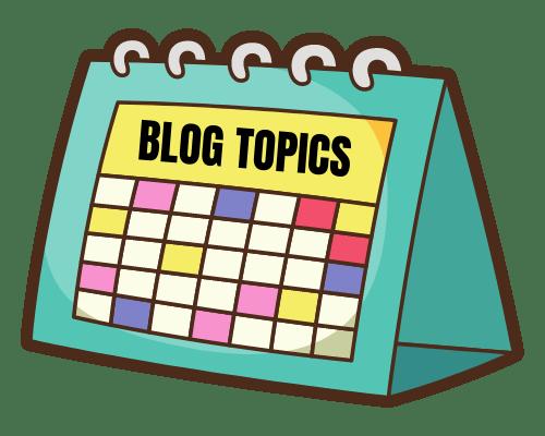 Blog Topics Calendar