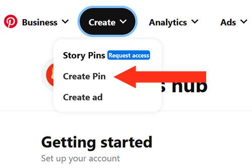 Create Pin Business