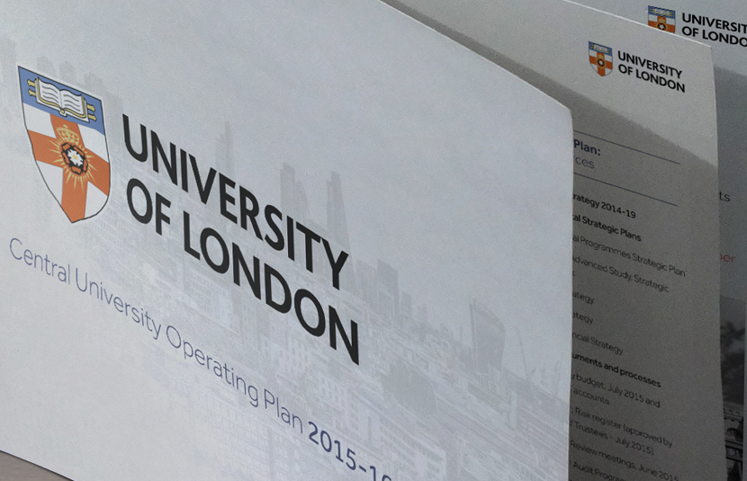 University of London Annual Report Design