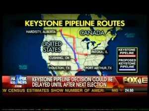 Keystone XL Pipeline routes