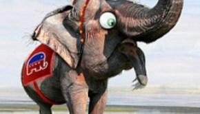 gop elephant by donkeyhotey