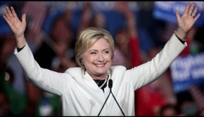 Watch Hillary Clinton's victory speech on winning the Democratic nomination for Presdient (full video)
