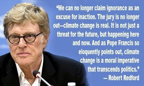 robert redford wants you to vote for climate hawks