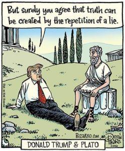 BIzarro Trump vs Plato