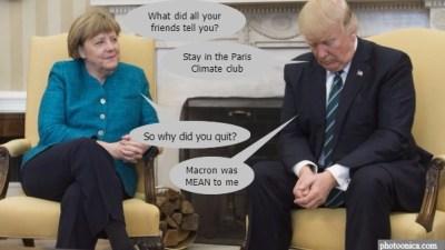merkel vs trump paris climate agreement