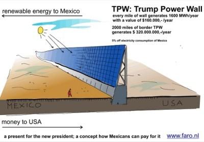 trump's magical solar-powered border wall by faro.nl