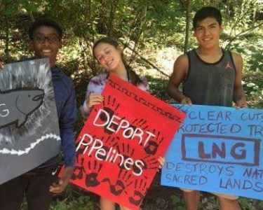 Deport Pipelines youth protest by Kerul Dyer