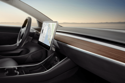 Tesla Model 3 interior dash