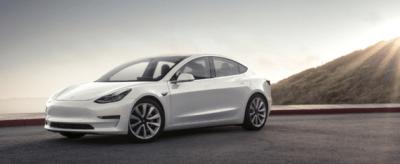 Tesla Model 3 mountain pearl
