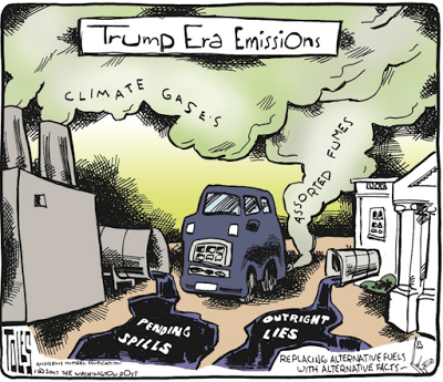 Trump Era Emissions - Replacing Alt Fuels with Alt Facts - cartoon 2017.01.31 toles