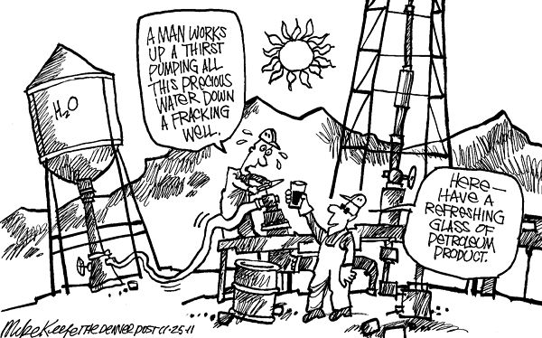 Fracking: Pity the poor, overburdened oil companies.
