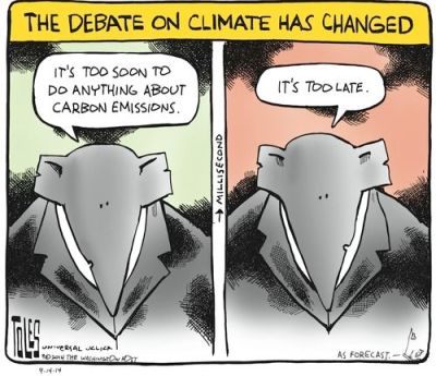 Tom Toles climate change debate has changed