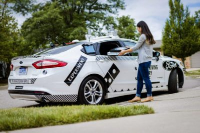 Ford and Domino's self-driving cars for pizza delivery
