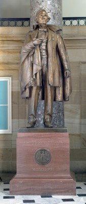 Bronze statue in Statuary Hall of Jefferson Davis (1808-1889), the Confederacy's only president.
