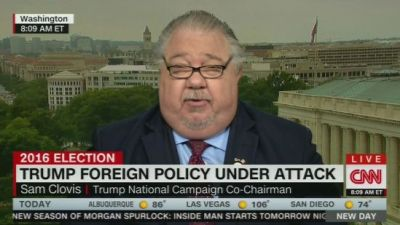 Sam Clovis lying about climate change